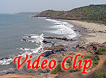 Video clip of Vagator Beach