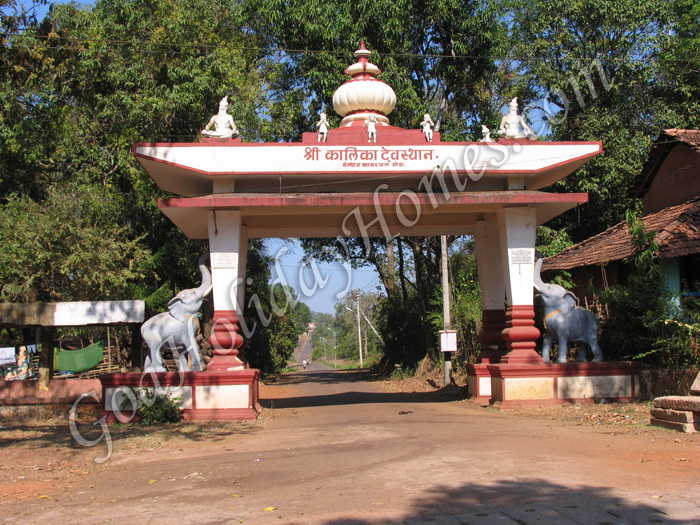 Kalika Devi temple at Kansarpal in Goa