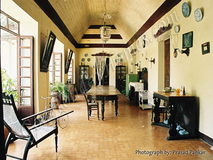 Menezes Braganza House in Chandor in Goa