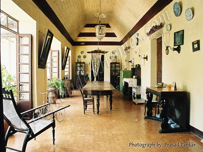 Menezes Braganza House in Chandor in Goa