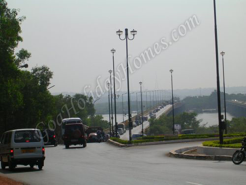 Road to Panjim Bridge