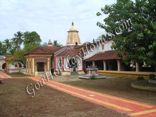 Shri Shantadurga temple at Dhargalim  in Goa