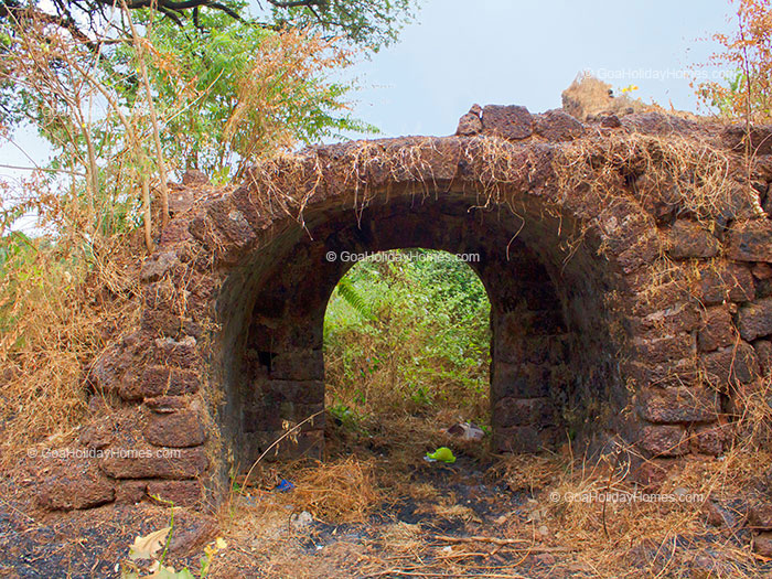 Ruins of the Colvale Fortress in Goa