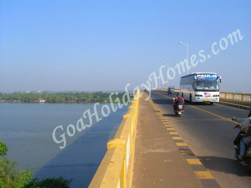 The Zuari bridge in Goa