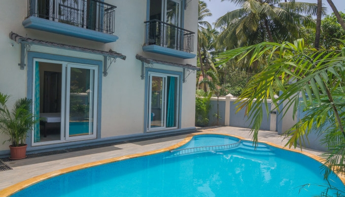 4bhk villa in calangute calangute villa shared swimming pool villa villa in calangute for Guest house in goa with swimming pool
