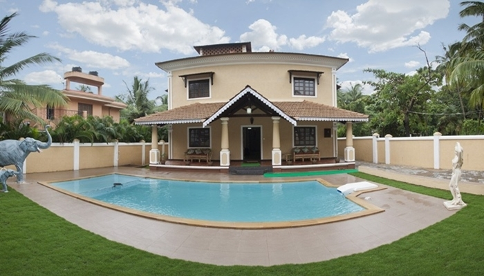 Rent house in goa renting a house house booking - Guest house in goa with swimming pool ...